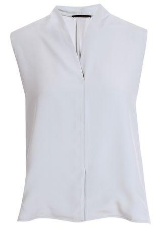 FFC Ärmellose Bluse in Hellblau grau