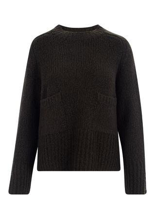 FFC Pullover aus Woll-Mix in Dunkelgrün
