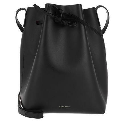 Mansur Gavriel  Beuteltasche  -  Classic Bucket Bag Black/Fiamma  - in schwarz  -  Beuteltasche für Damen schwarz