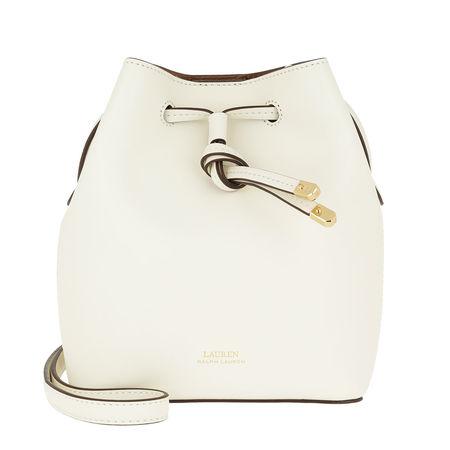 Lauren Ralph Lauren  Beuteltasche  -  Dryden Debby II Drawstring Mini Vanilla/Field Brown  - in weiß  -  Beuteltasche für Damen braun