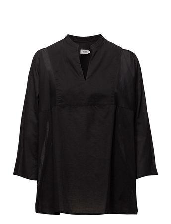 Filippa K Light Pleat Blouse Bluse Langärmlig Schwarz  schwarz