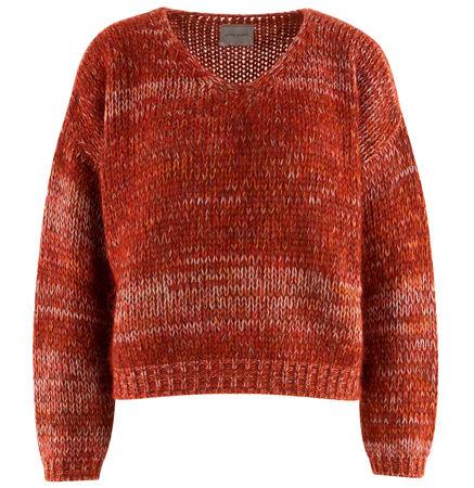 Fine Edge  - Pullover aus Wollgemisch rot