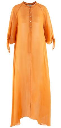 Forte Forte  - Kleid aus Chiffon orange