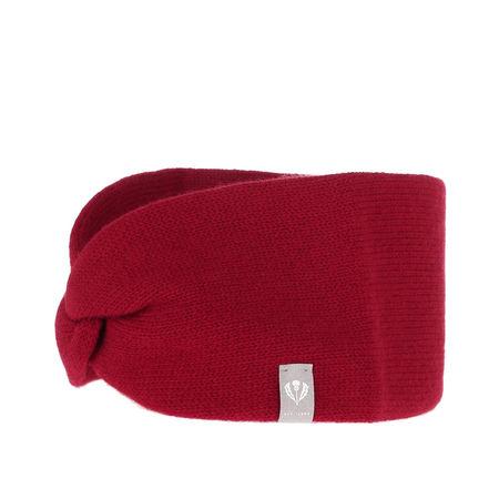 Fraas  Caps  -  Headband Cashmere Red  - in rot  -  Caps für Damen pink