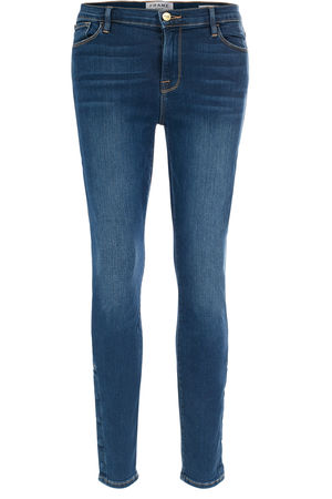 Frame Denim FRAME Mid Rise Jeans Le Skinny de Jeanne Martha Damen Farbe: dunkelblau verfügbare Größe: 25|26|27|28|29|30 grau