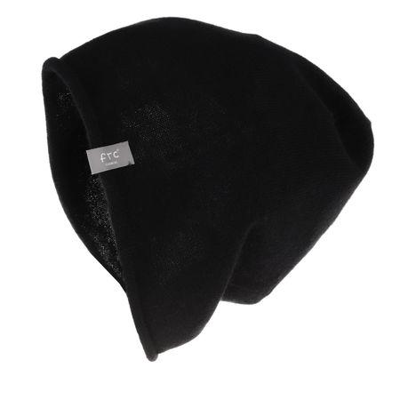 FTC Cashmere  Caps  -  Cashmere Hat Moonless Night  - in schwarz  -  Caps für Damen schwarz