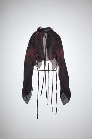 Acne Studios  FN-WN-BLOU000568 Black/fuchsia pink Long sleeve shirt