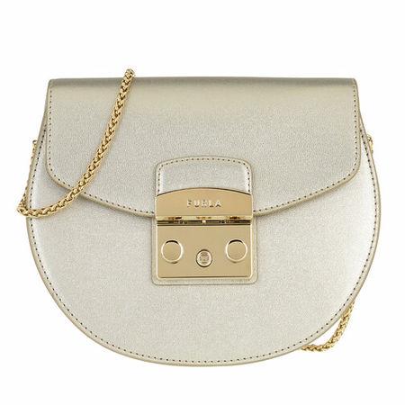 Furla  Crossbody Bags - Metropolis Mini Crossbody Round - in gold - für Damen