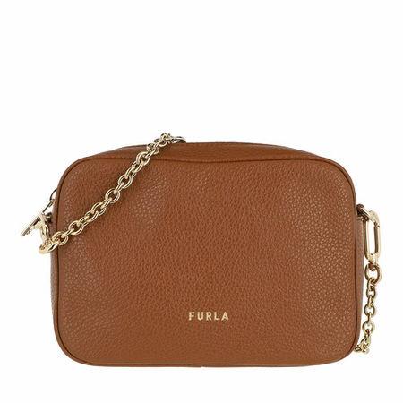 Furla  Crossbody Bags -  Real Mini Camera Case - Vitello St.Eracle - in cognac - für Damen