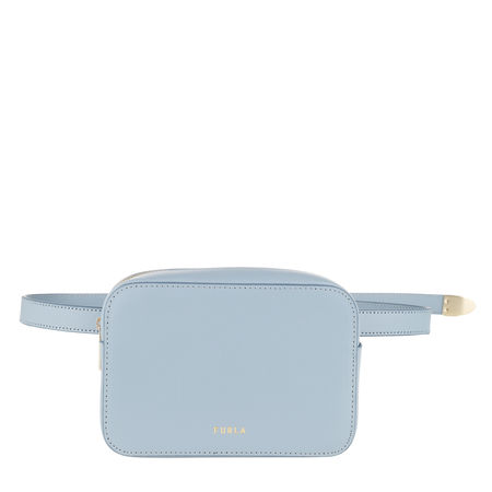 Furla  Gürteltasche  -  Block Mini Belt Bag Avio Light Grey  - in blau  -  Gürteltasche für Damen grau