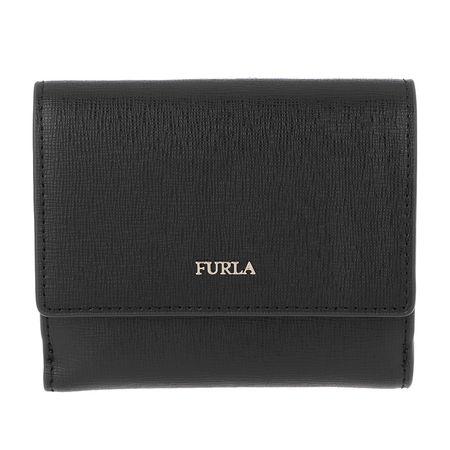 Furla  Portemonnaie  -  Babylon S Bi-Fold Nero  - in schwarz  -  Portemonnaie für Damen grau