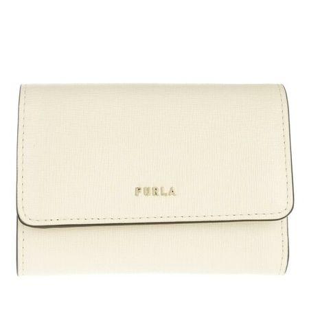Furla  Portemonnaie -  Babylon S Compact Wallet - in weiß - für Damen