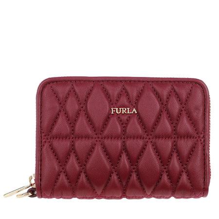 Furla  Portemonnaie  -  Cometa S Zip Around Ciliegia  - in rot  -  Portemonnaie für Damen braun