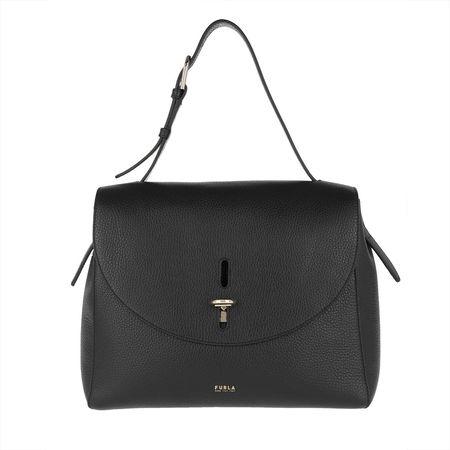 Furla  Satchel Bag  -  Net M Top Handle Nero  - in schwarz  -  Satchel Bag für Damen grau