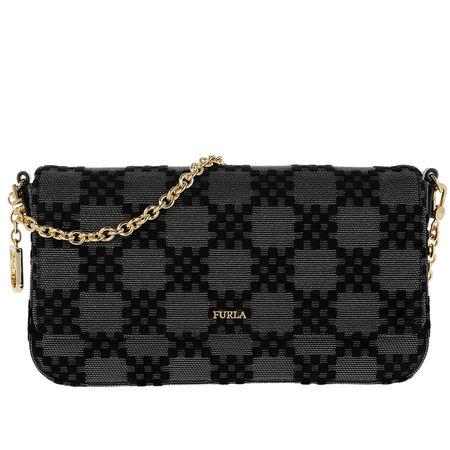 Furla  Umhängetasche  -  Fortezza Xl Shoulder Bag Onyx  - in grau  -  Umhängetasche für Damen schwarz