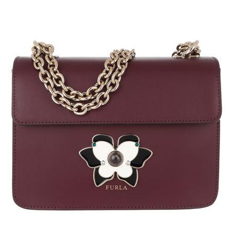 Furla  Umhängetasche  -  Mughetto Mini Crossbody Bag Ribes  - in rot  -  Umhängetasche für Damen braun