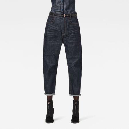 G-Star  RAW Damen C-Staq 3D Boyfriend Cropped Jeans C Dunkelblau grau