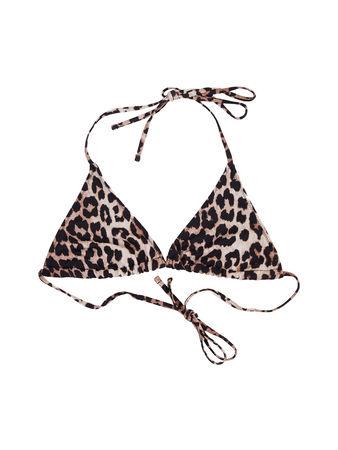 Ganni  - Bikini-Oberteil mit Leoprint Multi