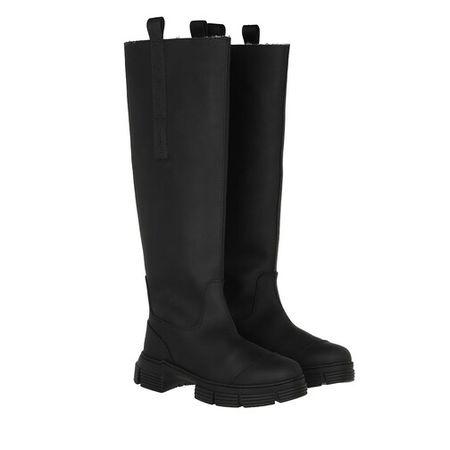 Ganni  Boots & Stiefeletten - Fur Country Boot - in schwarz - für Damen
