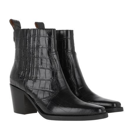 Ganni  Boots  -  Ankle Boots Black  - in schwarz  -  Boots für Damen grau
