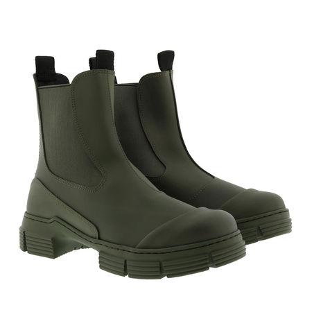 Ganni  Boots  -  City Boot Recycled Rubber Kalamata  - in grün  -  Boots für Damen grau