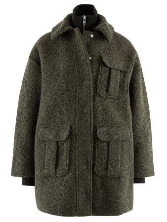 Ganni  - Jacke aus Wollgemisch