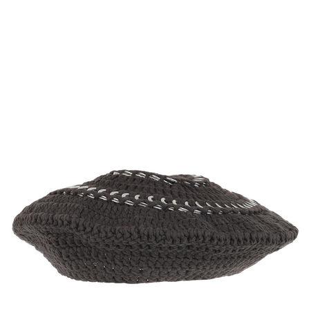 Ganni  Mützen - Cotton Knit Beret - in grau - für Damen grau