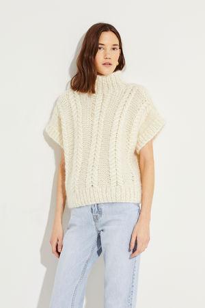 Ganni  - Woll-Mohair-Pullover Créme