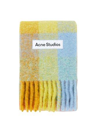 Acne Studios  - Woll-Mohair-Schal 'Vally' Multi/Gelb