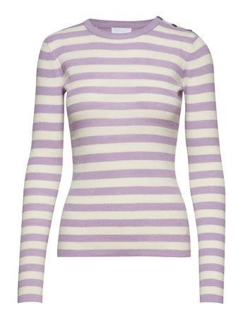2nd Day 2nd Jessie Striped Langärmliges T-Shirt Bunt/gemustert 2NDDAY braun