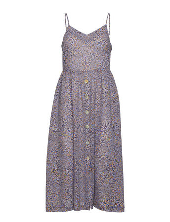 SEAFOLLY Spirit Animal Button Front Dress Strandmode Bunt/gemustert  grau
