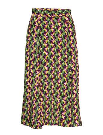Day Birger et Mikkelsen Day Bahce Langes Kleid Bunt/gemustert  gruen