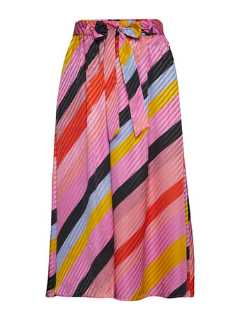 Stine Goya Audrey, 568 Parallels Silk Langes Kleid Bunt/gemustert  rosa