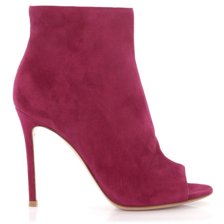 Gianvito Rossi  Ankle Boots Veloursleder pink pink