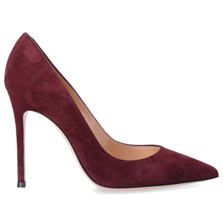 Gianvito Rossi  Pumps GIANVITO 105  Wildleder bordeaux braun