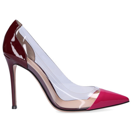 Gianvito Rossi Pumps PLEXI  Lackleder bordeaux pink