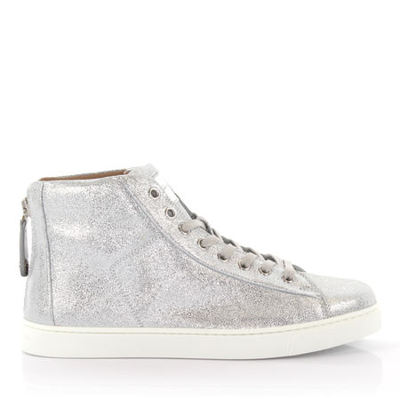 Gianvito Rossi  Sneakers High S28230 Leder silber finished grau