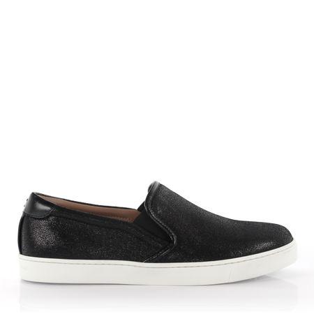 Gianvito Rossi  Sneakers Slip On Venice Leder schwarz finished grau