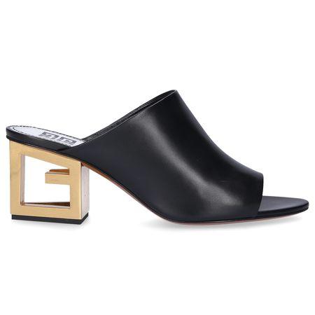 Givenchy  Clogs 3028E0A1 Kalbsleder  Logo schwarz schwarz