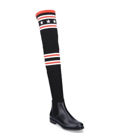 Givenchy  Overknees Gummi Textil Sternenmuster Streifen schwarz-kombi schwarz
