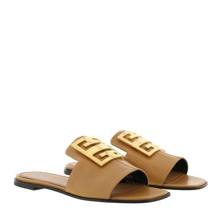 Givenchy  Sandalen & Sandaletten - 4G Flat Sandals - in braun - für Damen gruen