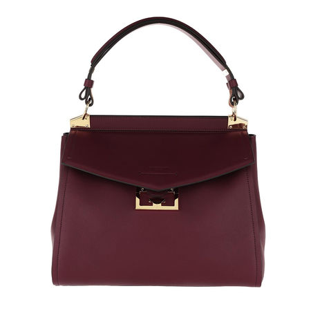 Givenchy  Satchel Bag  -  Mystic Satchel Bag Leather Aubergine  - in lila  -  Satchel Bag für Damen braun