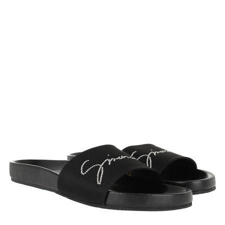 Givenchy  Schuhe  -  Crystal Satin Slides Black  - in schwarz  -  Schuhe für Damen schwarz
