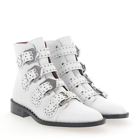 Givenchy  Stiefeletten Boots BE08143 Leder weiss Nieten silber grau