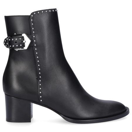 Givenchy  Stiefeletten ELEGANT  Kalbsleder  Logo Metallisch schwarz grau