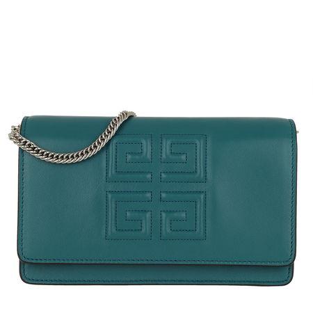 Givenchy  Umhängetasche  -  Emblem Chain Wallet Leather Ocean Blue  - in blau  -  Umhängetasche für Damen tuerkis