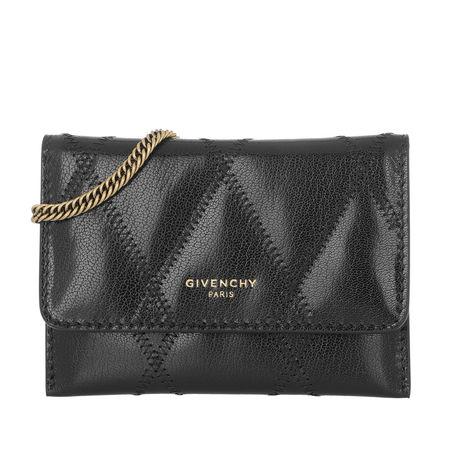Givenchy  Umhängetasche  -  Quilted Card Wallet On Chain Black  - in schwarz  -  Umhängetasche für Damen grau