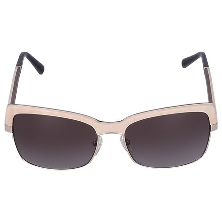 Gold & Wood Sonnenbrille Wayfarer RIVIER 02 Holz cremeweiß grau