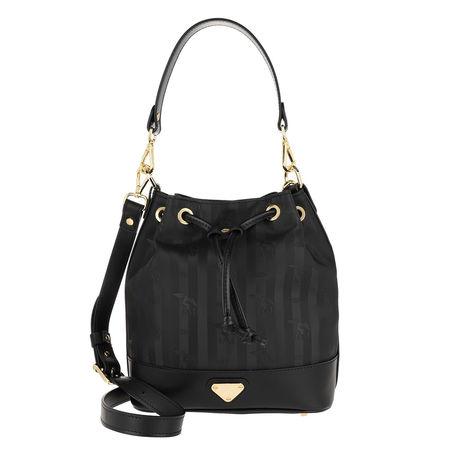 Maison Mollerus  Beuteltasche  -  Sion Bucket Bag Black/Gold  - in schwarz  -  Beuteltasche für Damen schwarz