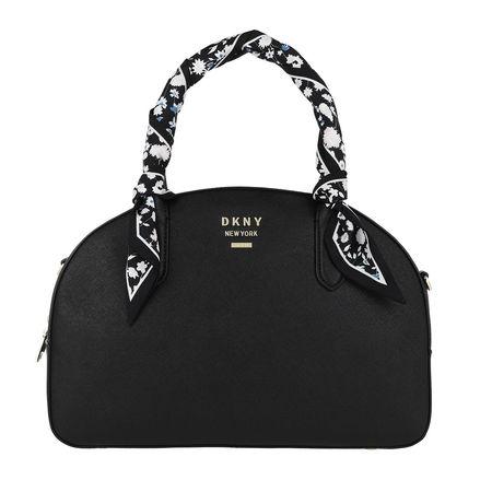 DKNY  Tote - Liza Dome Satchel Blk/Gold - in schwarz - für Damen
